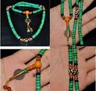 GOOD Tibet tibetan turquoise buddhist buddha prayer bead mala bracelet Dzi eye