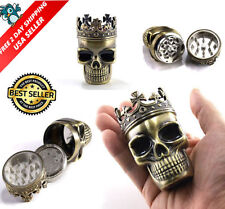 Unique Herbal Grinder Herb/Weed Mill Tobacco Smoke Kitchen Crusher Metal Skull