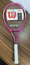 "New listing Wilson Women's Triumph Pink Tennis Racquet L2 4 1/4"" Brand NEW Sealed Grip!"