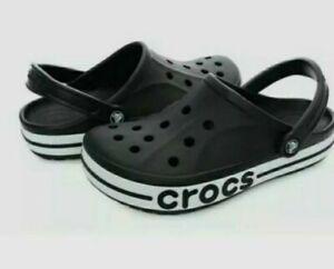 crocs crocband ii clogs Black White Mens Womens Sliders Shoes 11989-060 UPICK...