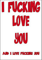 Personalised Funny Rude Adult F**king Valentines Day Card Large A5