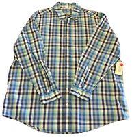 BNWT RM Williams Stockyard Blue/Green Check Long Sleeve Shirt Size XB RRP $79.00