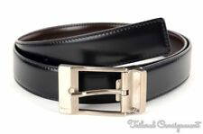 "SALVATORE FERRAGAMO Black Brown Reversible Leather Mens Belt - 1.125"" x 35/36"