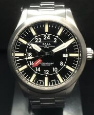 BALL ENGINEER MASTER II AVIATOR GMT Swiss AUTOMATIC 44mm 100m Super Lume Steel