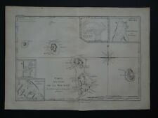 1787 Bonne Desmarest Atlas map  LEEWARD / SOCIETY ISLANDS - Isles de la Societe