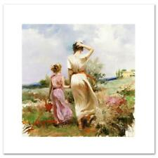 """Pino """"Tuscan Stroll"""" Signed Limited Edition Giclee on Canvas"""