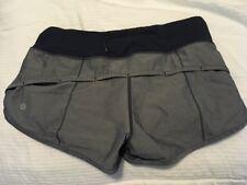 Lululemon Inkwell Denim Speed Shorts size 4 EUC