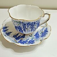 "ROYAL STAFFORD ENGLAND TEACUP AND SAUCER ""WISTARIA"" BONE CHINA"