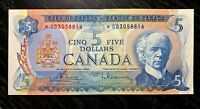 1972 $5 BANK OF CANADA REPLACEMENT PREFIX *CX  V.F+ - LOW ISSUE!