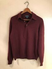 Brooks Brothers 100% Italian Cashmere maroon collared sweater (size: M)
