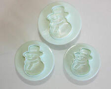 Snowman Plunger Cutters Embossing Set of 3 Sugarcraft Cake Decorating Christmas