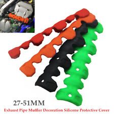 27-51MM Exhaust Pipe Muffler Silicone Protective Cover Anti Scalding Heat Shield