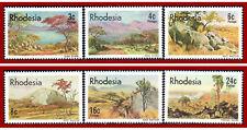 Rhodesien Simbabwe 1977 Landschaftsbilder, Gemälde, Art, ** MNH, Mi 194-199