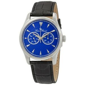 NEW Lucien Piccard LP-12761 Men's Stellar Analog Classic Leather Watch