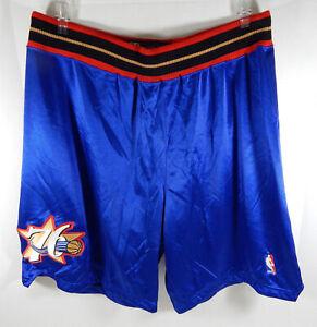 2004-05 Philadelphia 76ers Game Issued Blue Shorts 44+1 Reebok 710784S