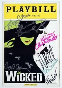 WICKED Principal Cast Idina Menzel, Kristin Chenoweth, Joel Grey Signed Playbill