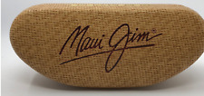 New Maui Jim Sunglass Case, Hard Clamshell + Cleaning Cloth Pouch, Box