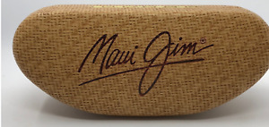 Maui Jim Sunglass Case, Hard Clamshell + Cleaning Cloth Pouch, Large, NEW IN BOX