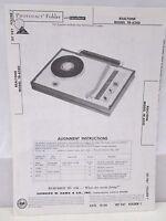 Howard Sams Photofact Folder Parts Manual Realtone Model TR-6240 Record Player