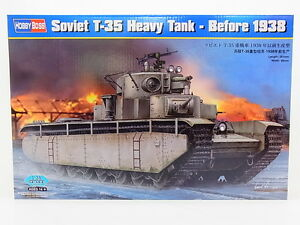Lot 17444 Hobby Boss 83842 Soviet T-35 Lourdes Réservoir Before 38 1:3 5 Kit