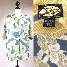 "Tommy Bahama Floral Hawaiian shirt blouse Holiday Tropical Green Bust 40"" (D2)"