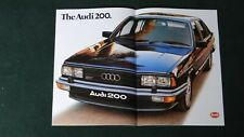 Audi 200 large format brochure (5T Turbo) - mint condition