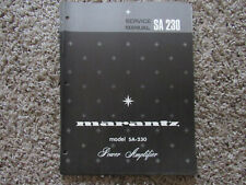 New listing Marantz Sa-230 Power Amplifier Original Service Repair Manual