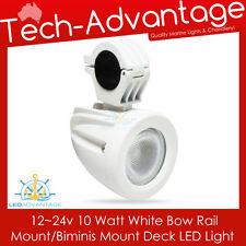 10W WHITE BOAT ROCKET LAUNCHER RAIL BIMINI MOUNT WAKE BOARD LED DECK FLOOD LIGHT