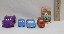 Cars By Disney Pixar 3 Cars Keychain w/ Car & Mini Deck Of Cards Lot Of 5