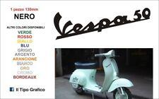 TARGHETTA ADESIVA NERA CORSIVO VESPA 50 1963-1971 VESPA 50 SPECIAL R L N