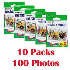 2 Packs Fujifilm Polaroid Fuji Instax Wide Film 20 Instant photos 210 200 100