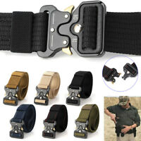 Herren Verstellbare Militaria Gürtel Rigger Belt Tactical Koppel Army Rescue Hot