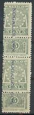 Mexico 1916 Revenue 5c  Nogales vertic pair MNH