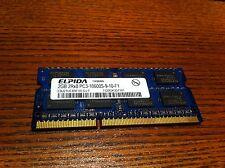 Laptop Memory Elpida EBJ21UE8BFU0-DJ-F 2GB 2Rx8 DDR3 PC3-10600S 1333MHz
