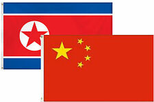 2x3 2'x3' Wholesale Combo Korea Korean & China Chinese 2 Flags Flag