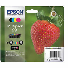 Genuine Epson 29 Strawberry Multipack Ink Jet Print Cartridge T2986 T29864010