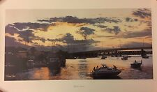 "S. Thomas Sierak ""HARBOR SUNSET"" LIMITED EDITION Lithograph COA 698 of 750"