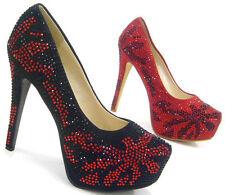 Markenlose Damenschuhe aus Textil mit sehr hohem Absatz (größer als 8 cm)