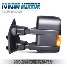 Tow Mirror Heat Signal Power Folding Driver Side Left for F250 F350 Super Duty