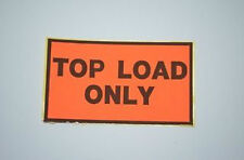 "1 Carton of 500 Peel & Stick ""Top Load Only"" Warning Labels 130mm x 75mm Sticker"