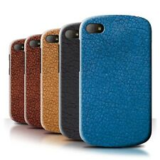 STUFF4 Back Case/Cover/Skin for Blackberry Q10/Leather Patch Effect