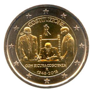 Sondermünzen Italien: 2 Euro Münze 2018 Verfassung Sondermünze Gedenkmünze