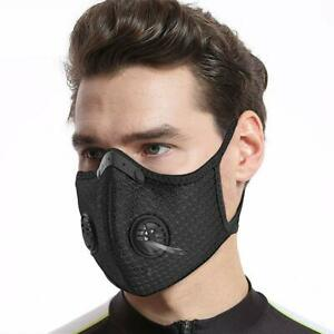 Face Mask Reusable Washable Anti Pollution PM2.5 Two Air vent With Filter UK