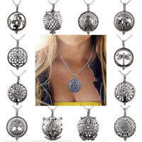 Essential Oil Diffuser Locket Pendant Necklace Aromatherapy Perfume Jewellery