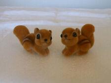 Josef Originals Flocked Pair Of Squirrels
