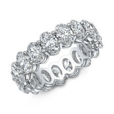 Natural 5.00 Ct. Oval Cut Shared Prong Diamond Eternity Ring G,VS2-SI1 PLATINUM