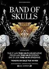BAND OF SKULLS 2014 Australian Tour Poster A2 Sweet Sour Himalayan The Hi-Fi NEW