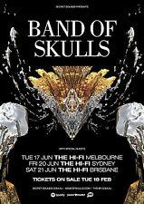 BAND OF SKULLS 2014 Australian Tour Poster A2 Sweet Sour Himalayan The Hi-Fi NEW