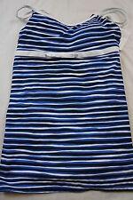One Piece Swimsuit Eco Swim By Aqua Green Sz 14 Multi Color Striped Swim Dress