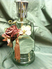 Oil Lamp Victorian Shabby Style Chic Glass Oil Lamp with Mirror